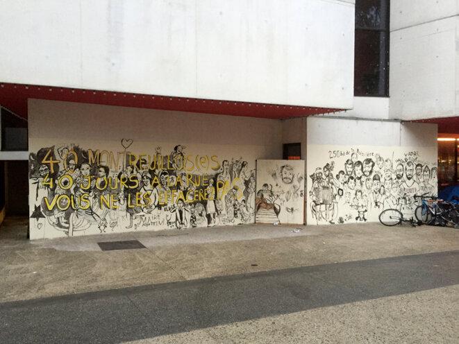 La fresque toujours renouvelée - Montreuil - 5 septembre 2016 © Gilles Walusinski