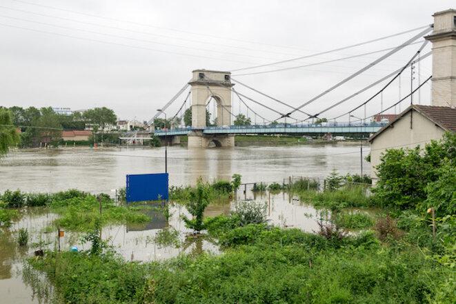 Crue de la Seine en juin 2016, à Ivry-sur-Seine © Christophe Pinard