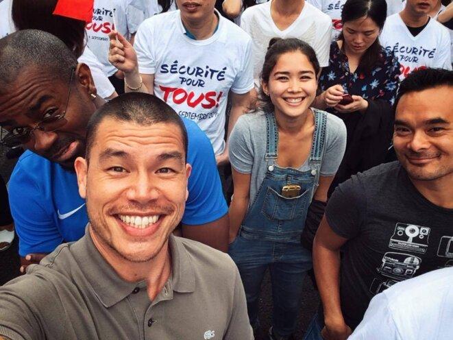Mike Nguyen, Audrey Giacomini, Place de la République, contre le racisme et les stéréotypes © Mike Nguyen