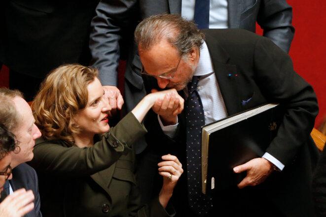 Nathalie Kosciusko-Morizet et Olivier Dassault à l'Assemblée nationale, en janvier 2016.