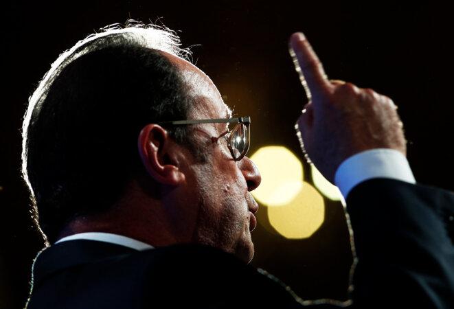 François Hollande jeudi, lors de son discours © Reuters