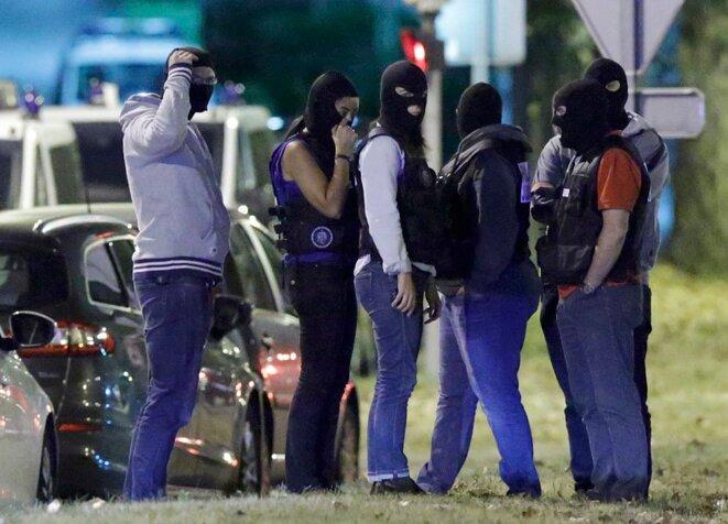 Raid policier à Boussy-Saint-Antoine le 8 septembre 2016 © Reuters
