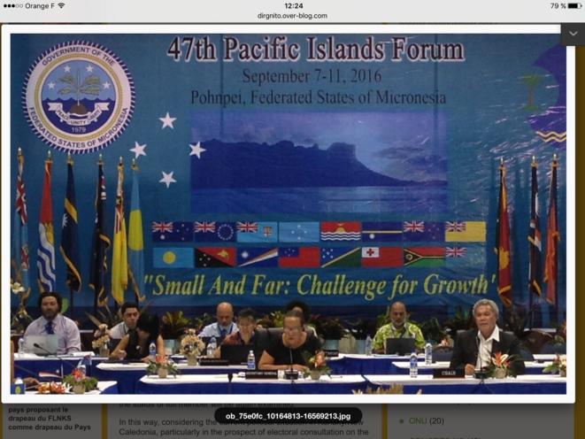 47ème Forum des îles du Pacifique. Pohnpei, États Fédérés de Micronésie, du 7 au 11 septembre 2016.