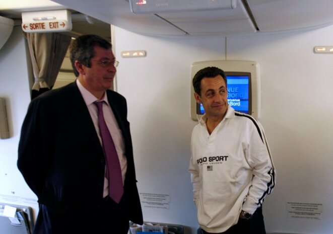 Patrick Balkany (L) and Nicolas Sarkozy in 2007. © Reuters