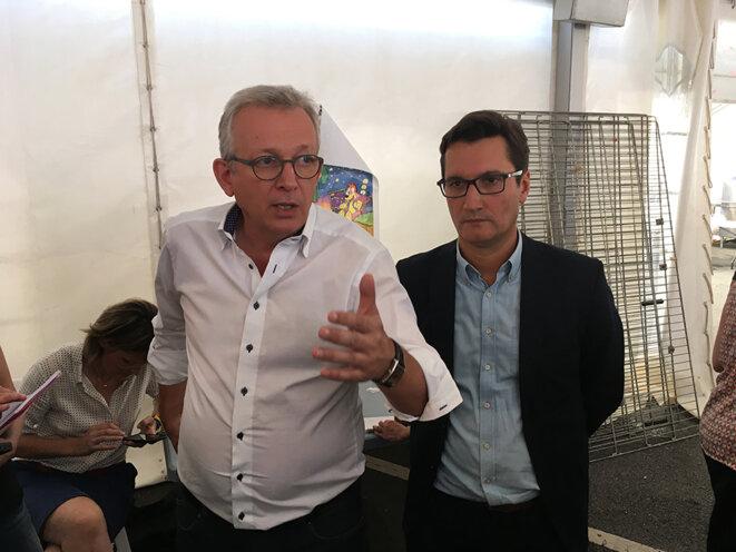 Pierre Laurent et Olivier Dartigolles, lors de la Fête de l'Humanité en septembre 2016 © CG