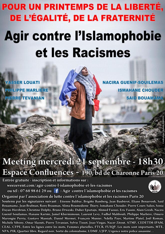 Pour un printemps de la liberté, de l'égalité et de la fraternité © Association de Lutte Contre l'Islamophobie et les Racismes