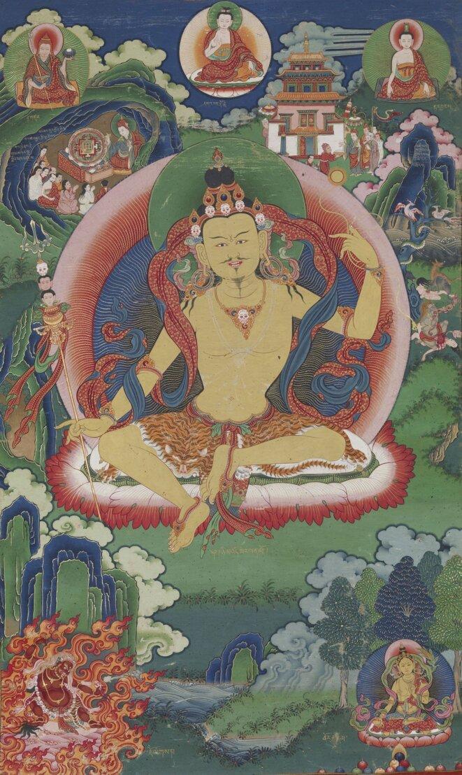 bhutanese-painted-thanka-of-guru-nyima-ozer-late-19th-century-do-khachu-gonpa-chukka-bhutan