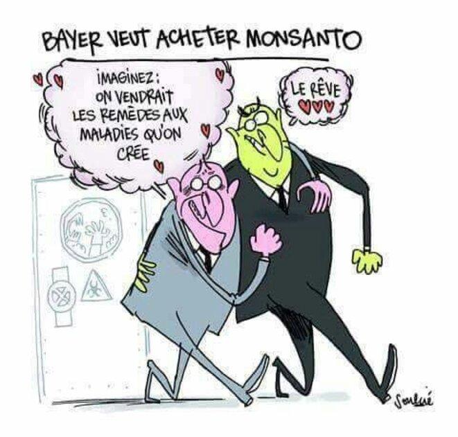 Mariage Bayer-Monsanto © Soulcié