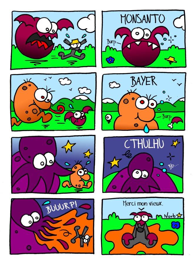 Un drôle de rêve... (Monsanto & Bayer) © Norb
