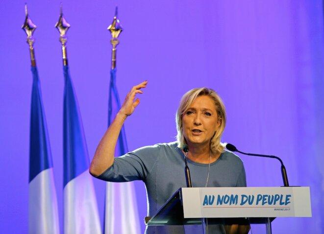 Discours de clôture des Estivales, dimanche 18 septembre, à Fréjus. © Reuters