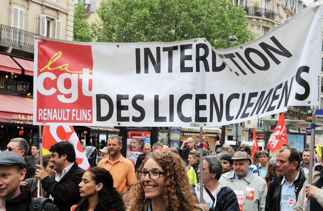 Cortège de la CGT de Renault Flins dans la manifestation parisienne contre la loi travail, 12 mai 2016. Photothèque rouge/Milo.