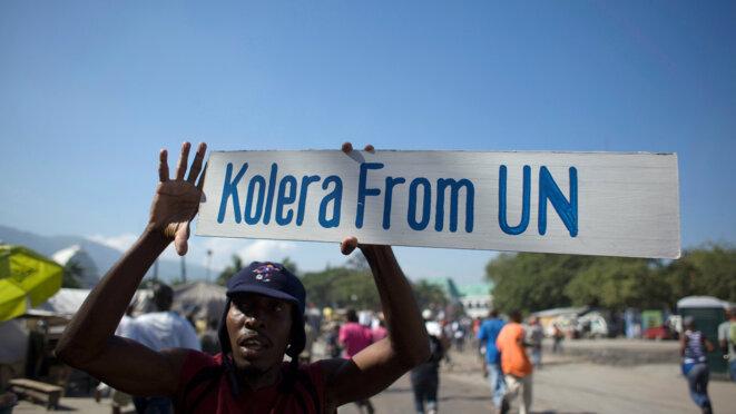 Pendant cinq ans, l'ONU a nié contre toute évidence sa responsabilité dans le déclenchement de l'épidémie de choléra en Haïti. © Reuters