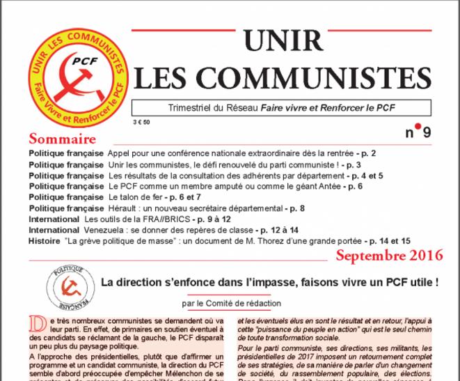 Unir les Communistes no.9