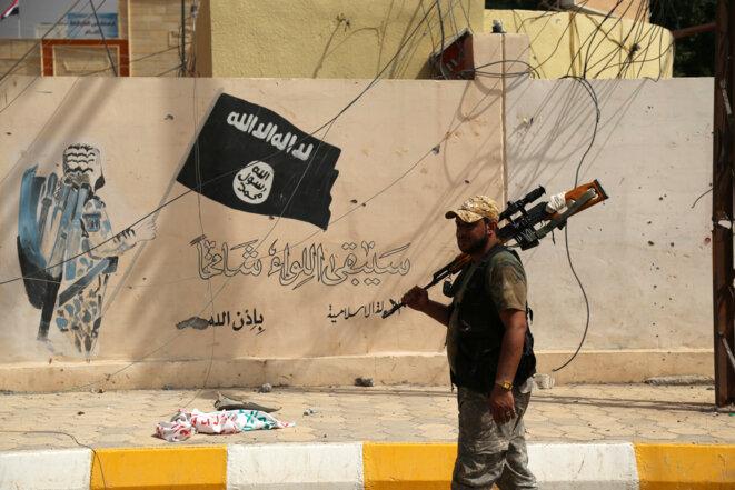 Sharqat, jeudi 22 septembre 2016. Les forces irakiennes appuyées par la coalition internationale ont repris la ville à l'Etat islamique. © Reuters