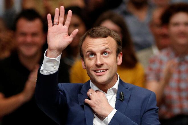 12 juillet 2016. Emmanuel Macron lance son mouvement à la Mutualité © Reuters