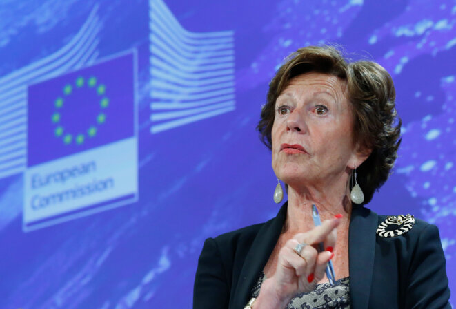Neelie Kroes le 12 septembre 2013 à la commission de Bruxelles. © Yves Herman / Reuters