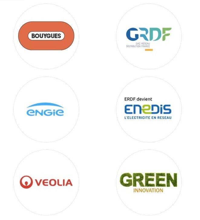 Quelques sponsors du sommet Climate Chance, dont Engie