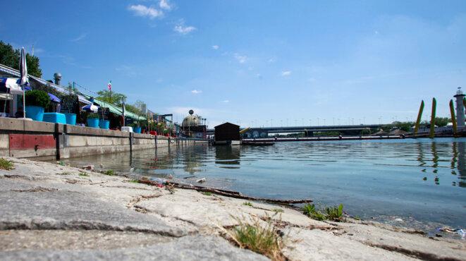 Les bords du Danube, à Vienne, là où le corps de Choukri Ghanem a été retrouvé le 29 avril 2012. © Reuters
