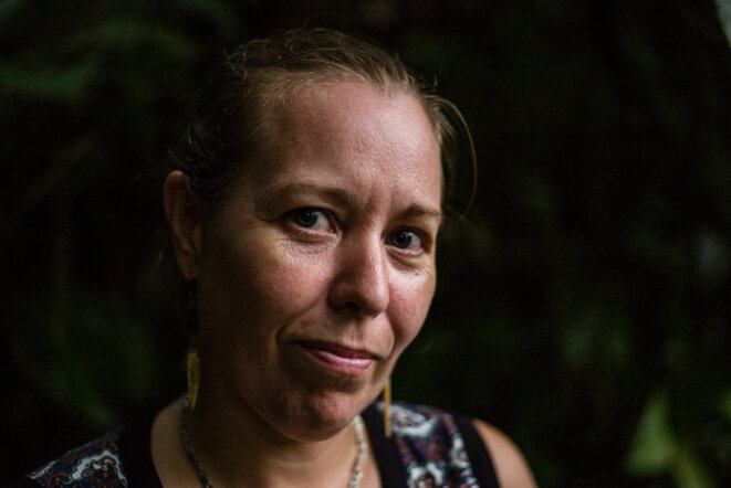 Audrey, dite Nathalie Mistral, a participé aux négociations de paix à La Havane. © Federico Rios