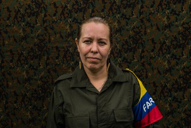 Audrey, dite Nathalie Mistral, depuis quinze ans chez les Farc. © Federico Rios