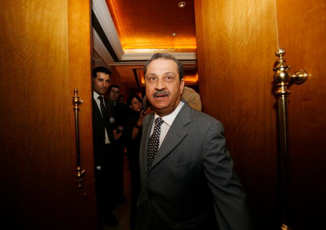 Choukri Ghanem, en décembre 2007, alors ministre du pétrole du gouvernement libyen. © Reuters
