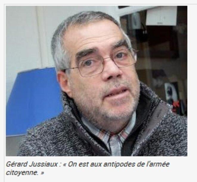 Gérard Jussiaux, photo parue dans Factuel