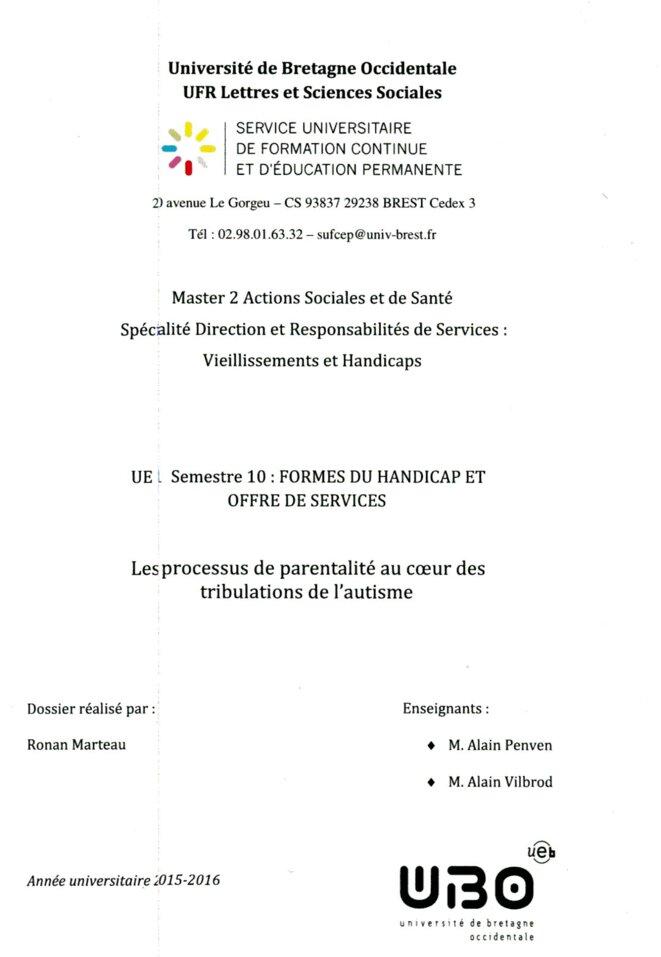 Mémoire de master Ronan Marteau