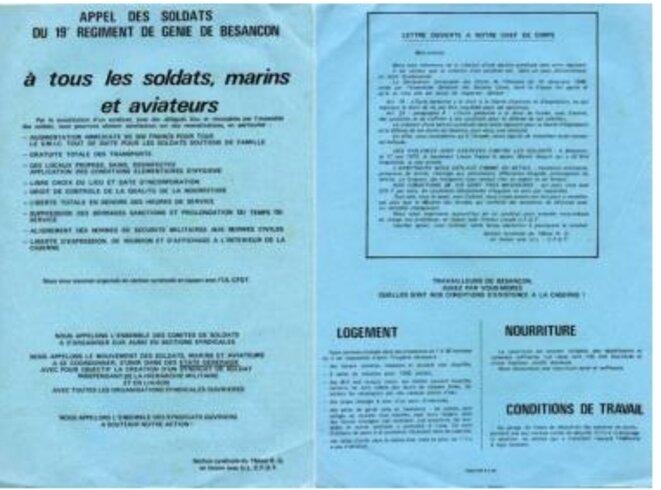Tract de 1975, non daté, paru dans Factuel (16 février 2016)