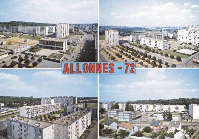 Carte postale d'Allonnes, début des années 1970