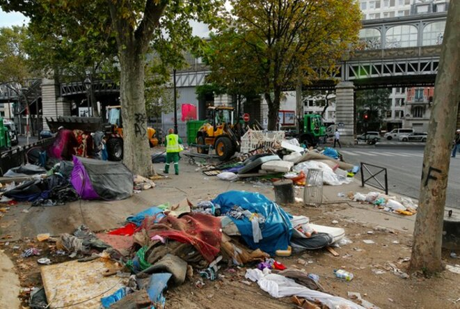 Le métro Jaurès après l'évacuation du 16 septembre © Reuters