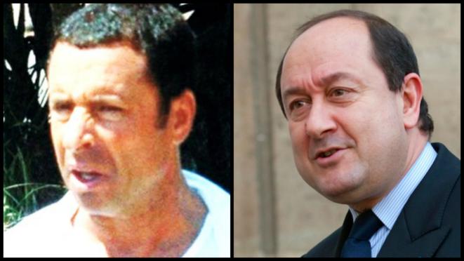 Alexandre Djouhri (gauche) et Bernard Squarcini, l'ex-patron du renseignement intérieur © DR et Reuters