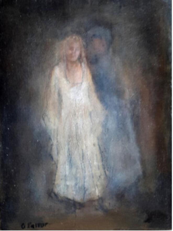 G. Pastor, peinture de l'huile sur bois, 38 x 28,5, sans titre © TDR