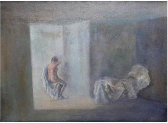 G. Pastor, peinture de l'huile sur bois, 16 x 38, sans titre © TDR
