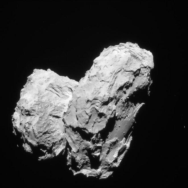 Rosetta et ses deux lobes © ESA/Rosetta/Navcam