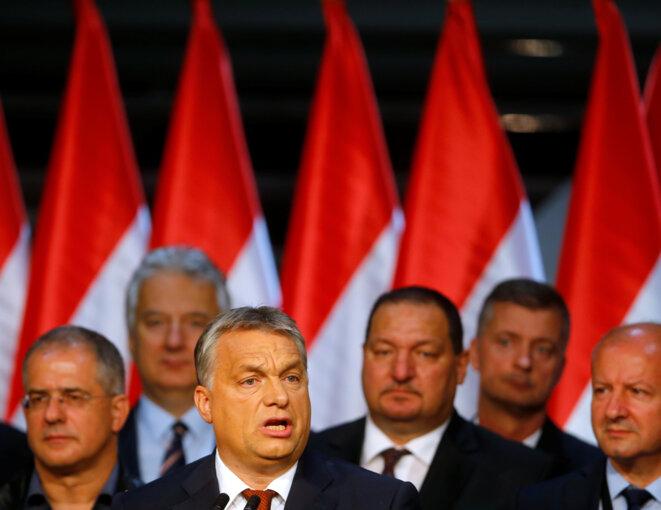 Viktor Orbán lors des résultats le 2 octobre au soir. © Reuters