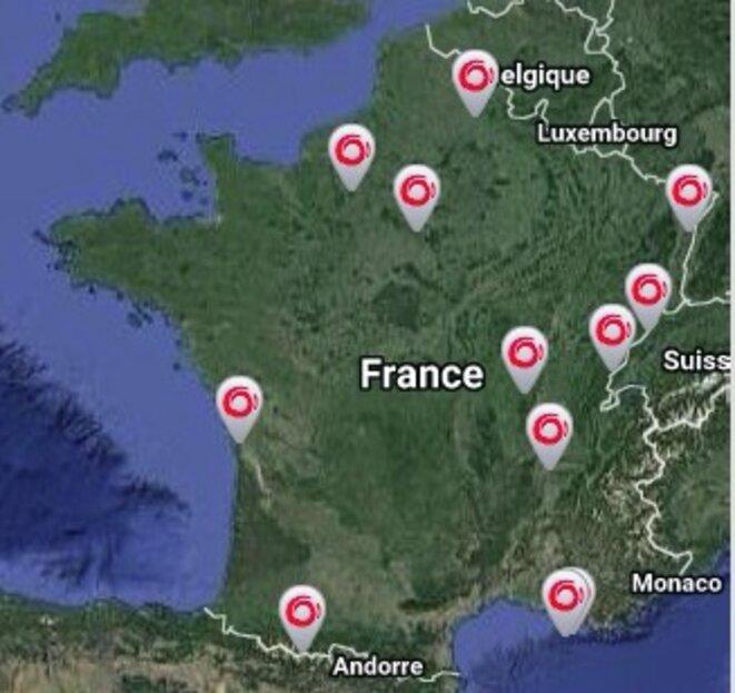 Sites de production d'Alstom en France © Alstom