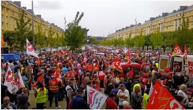 Manifestation à Belfort le 15 septembre © D.I