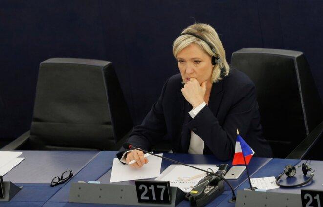 Marine Le Pen au parlement européen le 5 juillet 2016. © Reuters