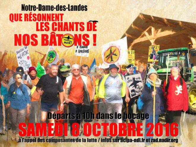 Manifestation du 8 octobre - Notre-Dame-des-Landes
