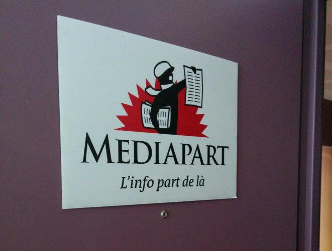 """Le logo de """"Mediapart"""" © Laurent Checola"""