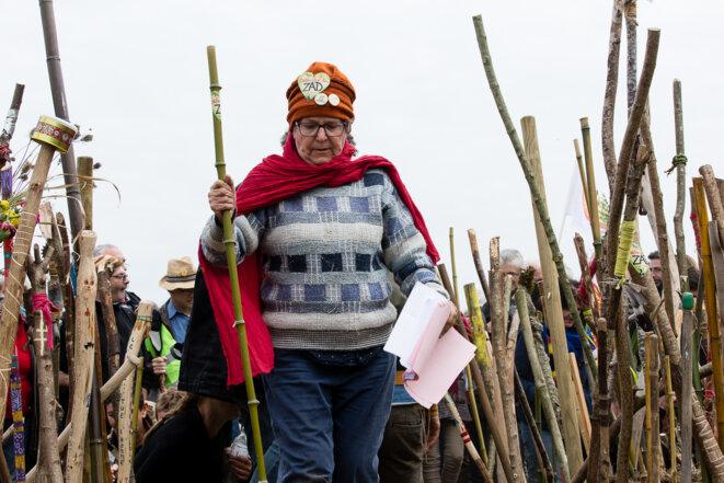 Geneviève Coiffard, opposante de longue date à l'aéroport © Yann Levy / Hans Lucas