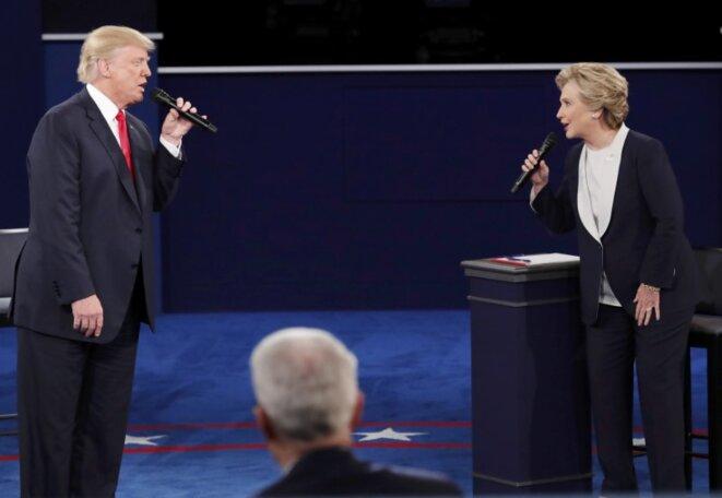 Le second débat entre Trump et Clinton, dimanche 9 octobre. © Reuters