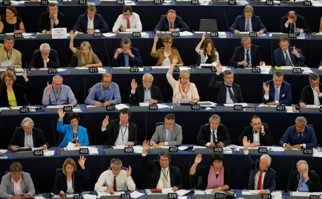 No final power: a sitting of the European Parliament in September.  © Vincent Kessler / Reuters.
