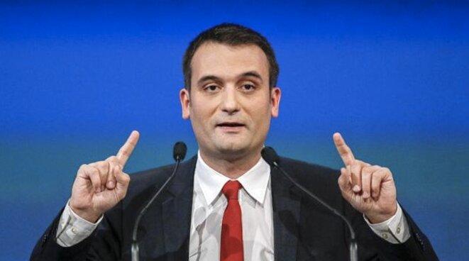 Florian Philippot, vice-président du FN, chargé de la stratégie et de la communication. © Reuters