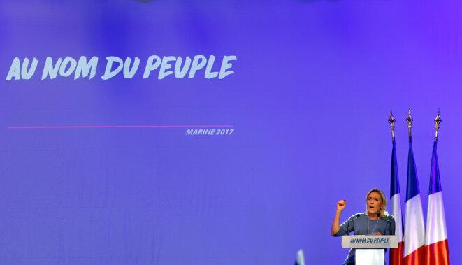 Le discours de clôture de Marine Le Pen à Fréjus, le 18 septembre 2016. © Reuters