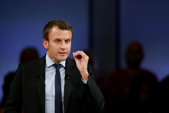 Emmanuel Macron, le 11 octobre au Mans © Reuters