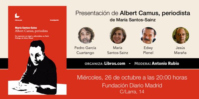L'annonce du débat sur le livre à Madrid le 26 octobre