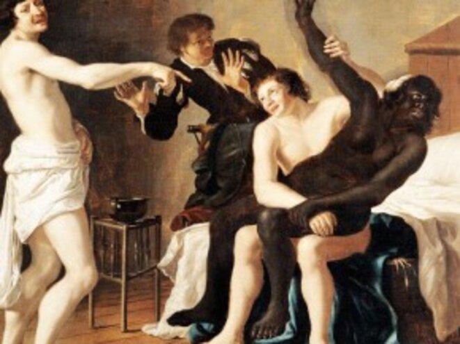 « Le rapt de la négresse » ou « le viol de la négresse » © Christiaen van Couwenbergh  (1604-1667)