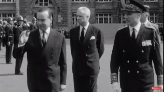 Michel Débré, Roger Frey et Maurice Papon