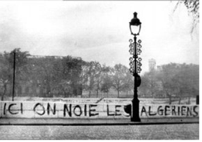 """Photo qui sert d'affiche au film de Yasmina Adi, """"Ici on noie les Algériens"""""""